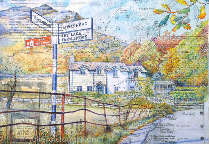 House Portrait in the lake District - signpost series